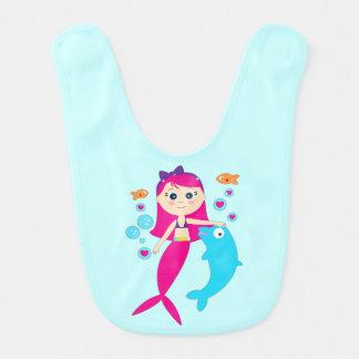 Mermaid and Dolphin: Friends under the Sea Bib
