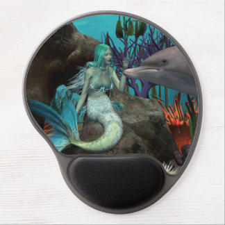 Mermaid and Dolphin Gel Mouse Pad