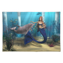 Mermaid and Dolphin Placemat