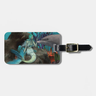 Mermaid and Dolphin Tags For Bags