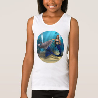 Mermaid and Dolphin Tank Top