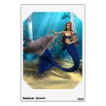 Mermaid and Dolphin Wall Skin