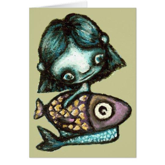 Mermaid-and-fish Card