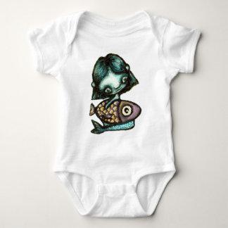 Mermaid-and-fish T-shirt