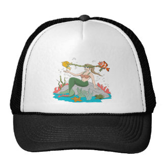 Mermaid and Friends Trucker Hats