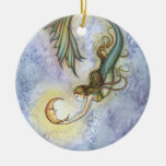 Mermaid and Moon Ornament