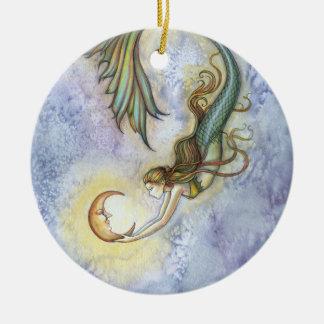 Mermaid and Moon Ornament