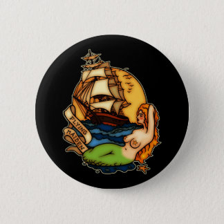 Mermaid and Pirate Ship Button