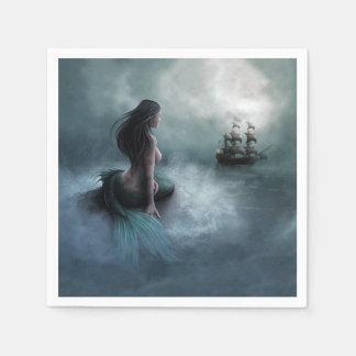 Mermaid and Pirate Ship Napkin