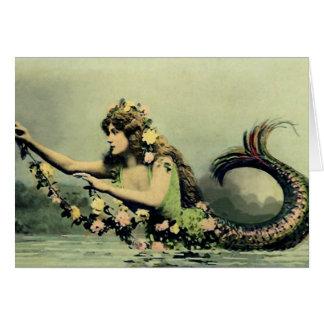 Mermaid and Roses Card
