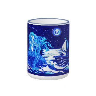 Mermaid and sailor ringer mug