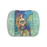 Mermaid and Sea Dragon by Molly Harrison Jelly Belly Candy Tin