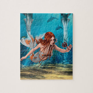 Mermaid and Sea Lily Jigsaw Puzzle
