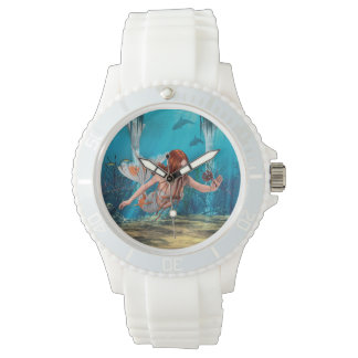 Mermaid and Sea Lily Wristwatch