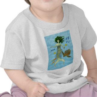Mermaid and Sea Turtle T Shirts