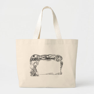 Mermaid and Seagulls Jumbo Tote Bag