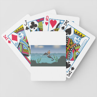 Mermaid and seahorse bicycle playing cards