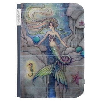 Mermaid and Seahorse Fantasy Art by Molly Harrison Kindle 3G Case