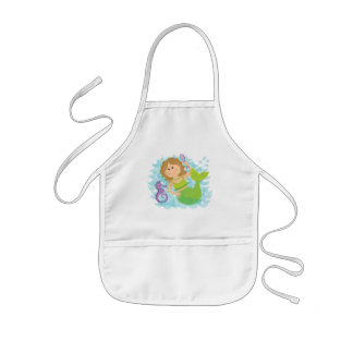 Mermaid and Seahorse Kids' Apron