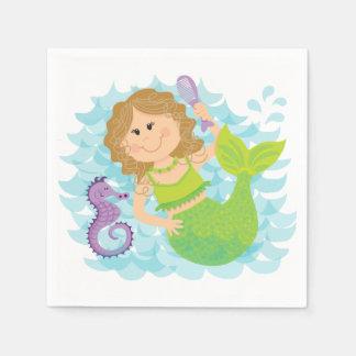 Mermaid and Seahorse Paper Napkins