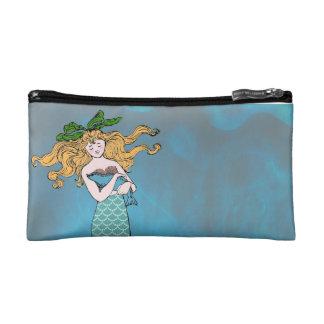 Mermaid and seal makeup bag