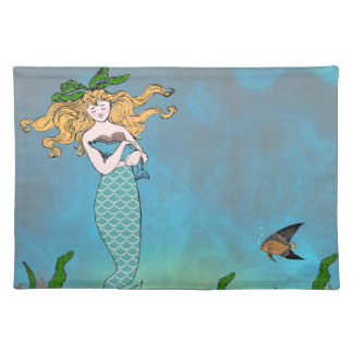 Mermaid and seal cloth placemat