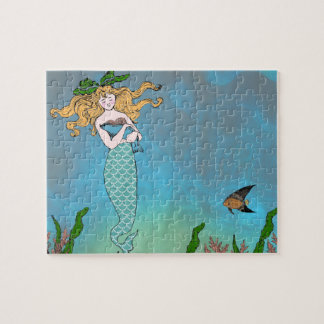 Mermaid and seal jigsaw puzzle