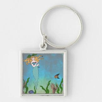Mermaid and seal key chains