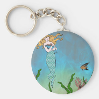 Mermaid and seal keychains