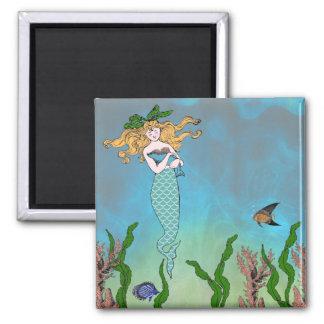Mermaid and seal magnet