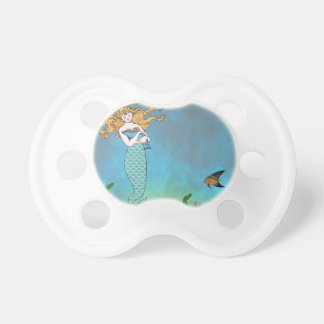 Mermaid and seal baby pacifier