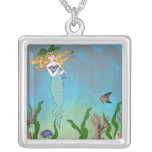 Mermaid and seal personalized necklace