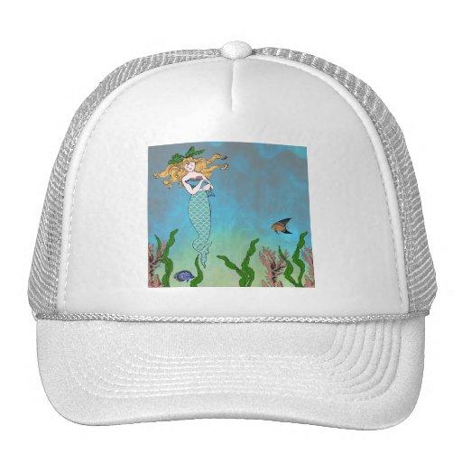 Mermaid and seal trucker hats