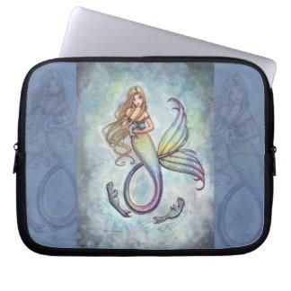 Mermaid and Seals Laptop Sleeve
