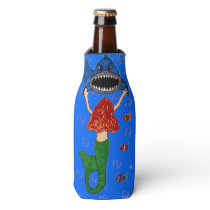 Mermaid and Shark Bottle Cooler