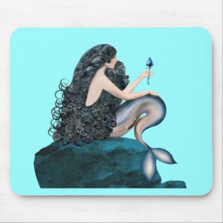 Mermaid and the Rose Mouse Pad