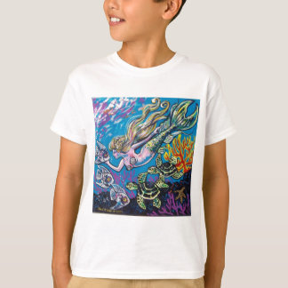 mermaid and turtle T-Shirt