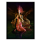 Mermaid and Water Dragon Poster