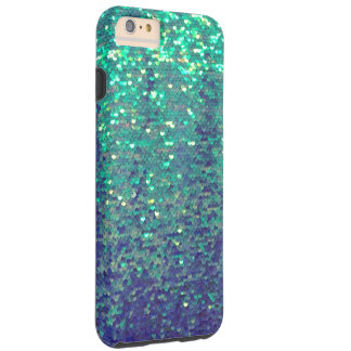 mermaid aqua blue small sequin pattern tough iPhone 6 plus case
