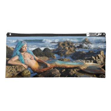 Beach Themed Mermaid AquaMarine Pencil Case