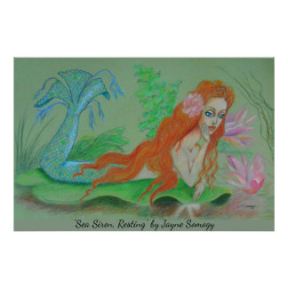 Mermaid Art--Orig. Drawing Poster
