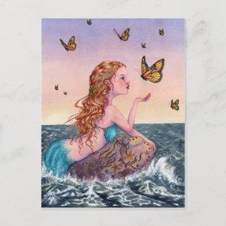 Mermaid Art Postcard - Bring Me Tidings