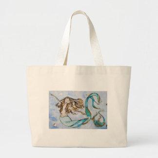 Mermaid Art Print by Tamara Kapan Jumbo Tote Bag