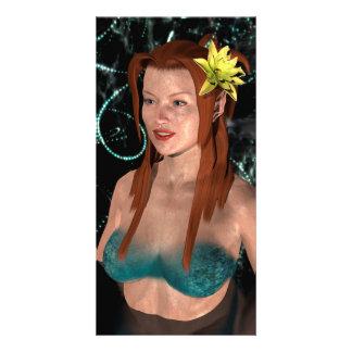 Mermaid at Night Card
