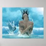 Mermaid at play poster