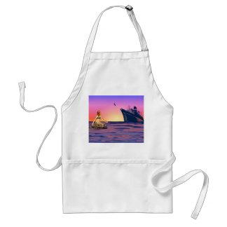 Mermaid at sunset adult apron