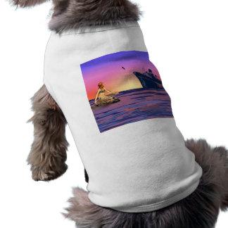 Mermaid at sunset dog t-shirt