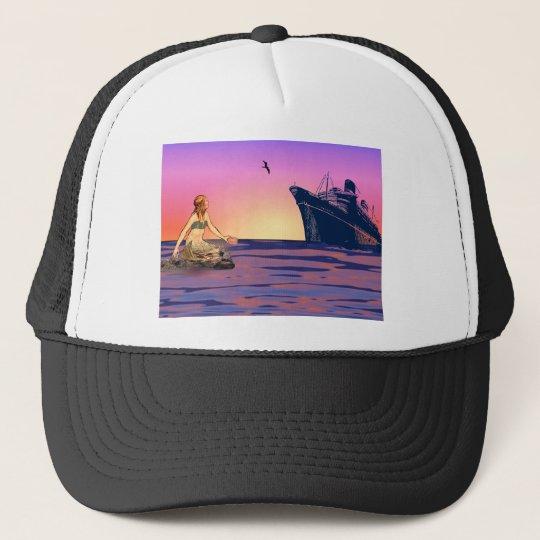 Mermaid at sunset trucker hat