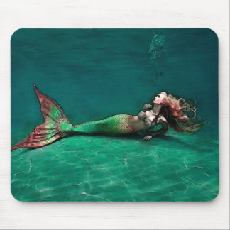 Mermaid at the bottom of the Sea Mouse Pad