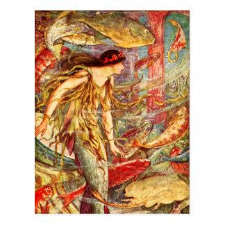 Mermaid Awaiting Her Crown Postcard